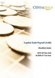 Capital Gold Payroll Checklist Guide