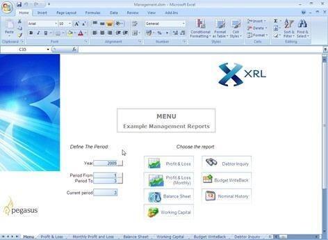 Pegasus XRL Management Reports